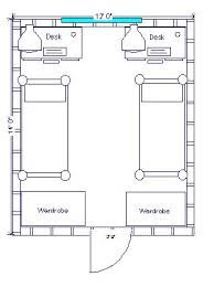 double dorm room layout - Google Search