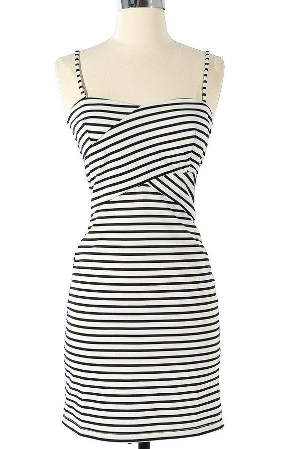 Walk The Line Striped Dress