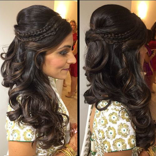 Wedding Party Hairstyle For Thin Hair: Latest Indian Wedding Hairstyles 2016-2017
