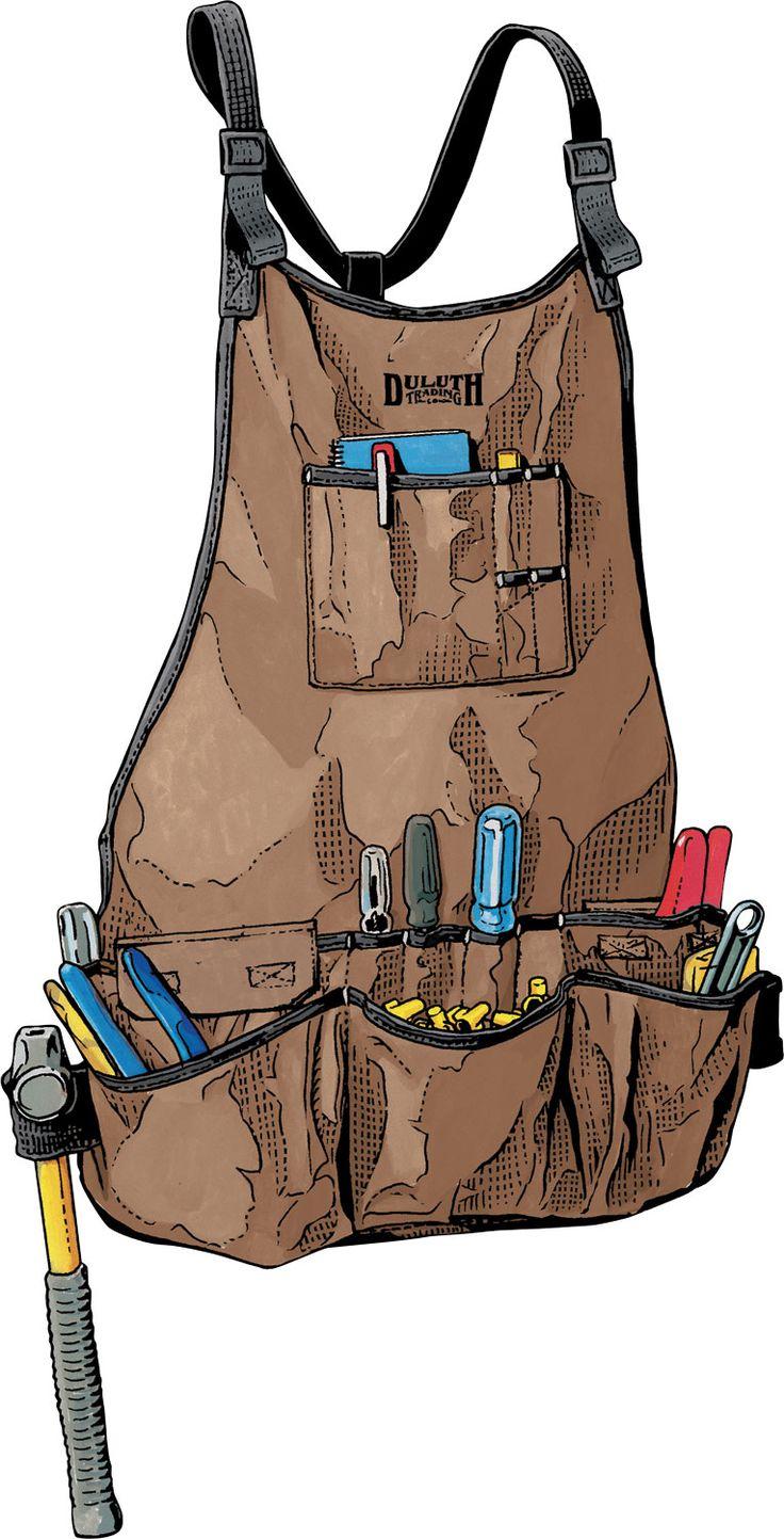 Improved Fire Hose Bib Apron. Love the mesh pockets to prevent sawdust buildup.