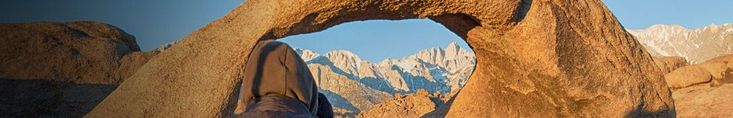 The Mobius Arch in the Alabama Hills -- This rock arch perfectly frames Mount Whitney in the center opening.