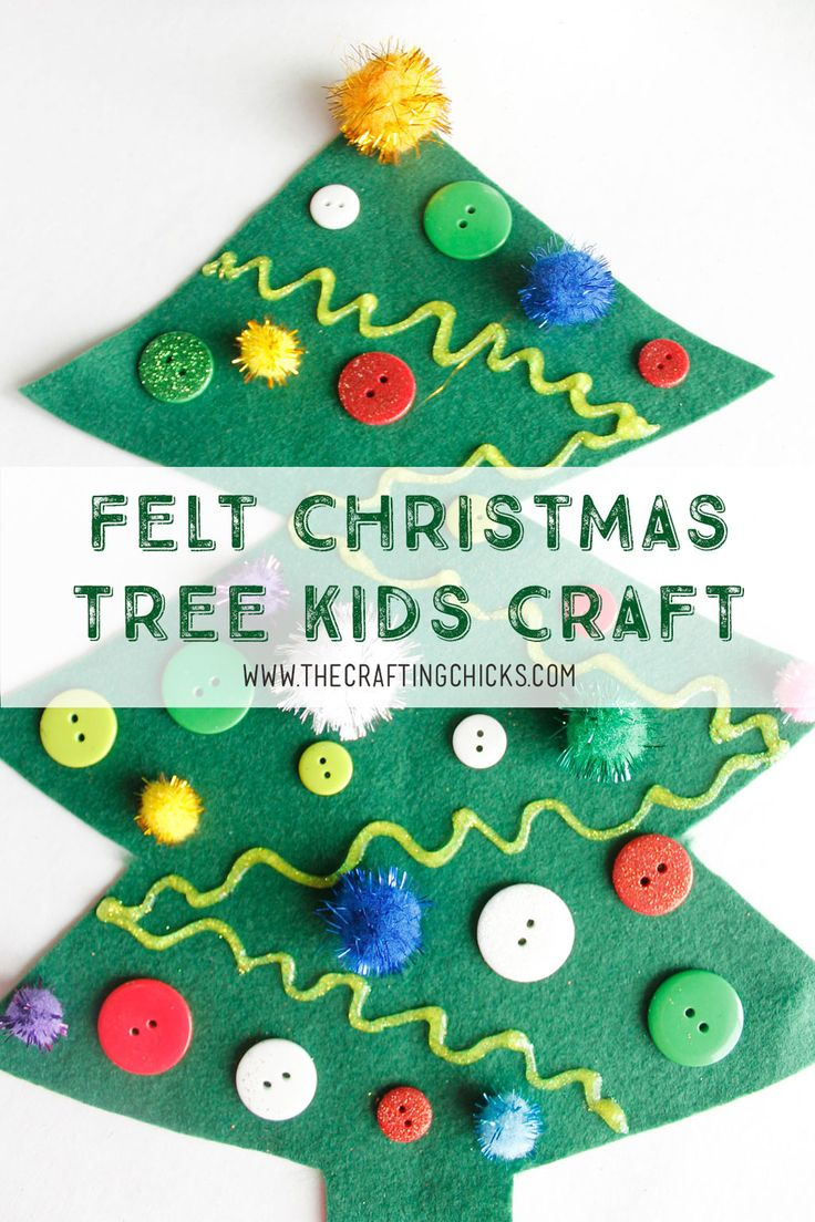 Felt Christmas Tree Kids Craft - A fun and simple kids activity, perfect for cla...