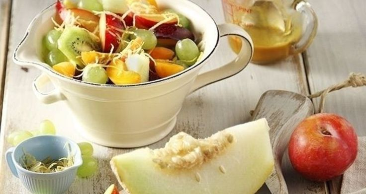 Fruit Salad with Fruit SauceThe best fruit combination for you to enjoy!!!!!