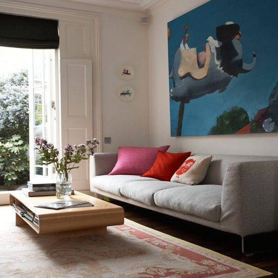 Colorful Georgian Townhouse House Tours Front Rooms And