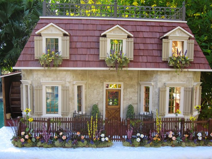81 best images about dollhouses by robin carey on Stone cottage kit homes