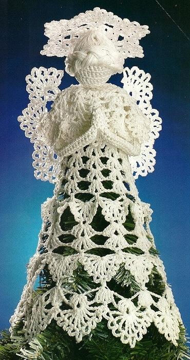 Image detail for -X617 Crochet PATTERN ONLY Heirloom Angel Tree-Topper Pattern & Fillet ...