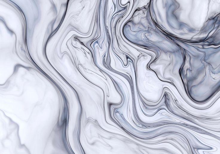 Gray Marble Digital Art by Oksana Ariskina #OksanaAriskina #OksanaAriskinaFineArtPhotography #Artworks #FineArtPhotography #HomeDecor #FineArtPrints #FineArtAbstract #Fractal #Abstract #ArtForSale #Marble #Blue #Wave #Geology #Liquid #Flow #River
