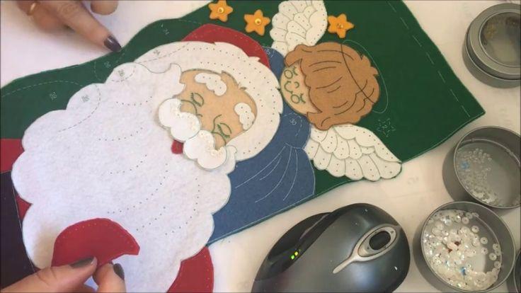 Manualidades navideñas de bota de Santa claus.