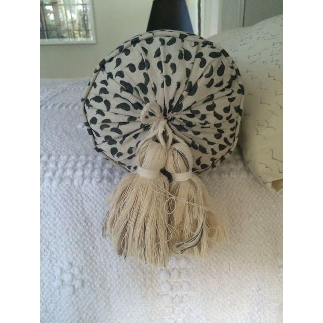 Custom Bolster Pillow for Queen Bed  // for sale on Chairish.com by CLOTH & KIND