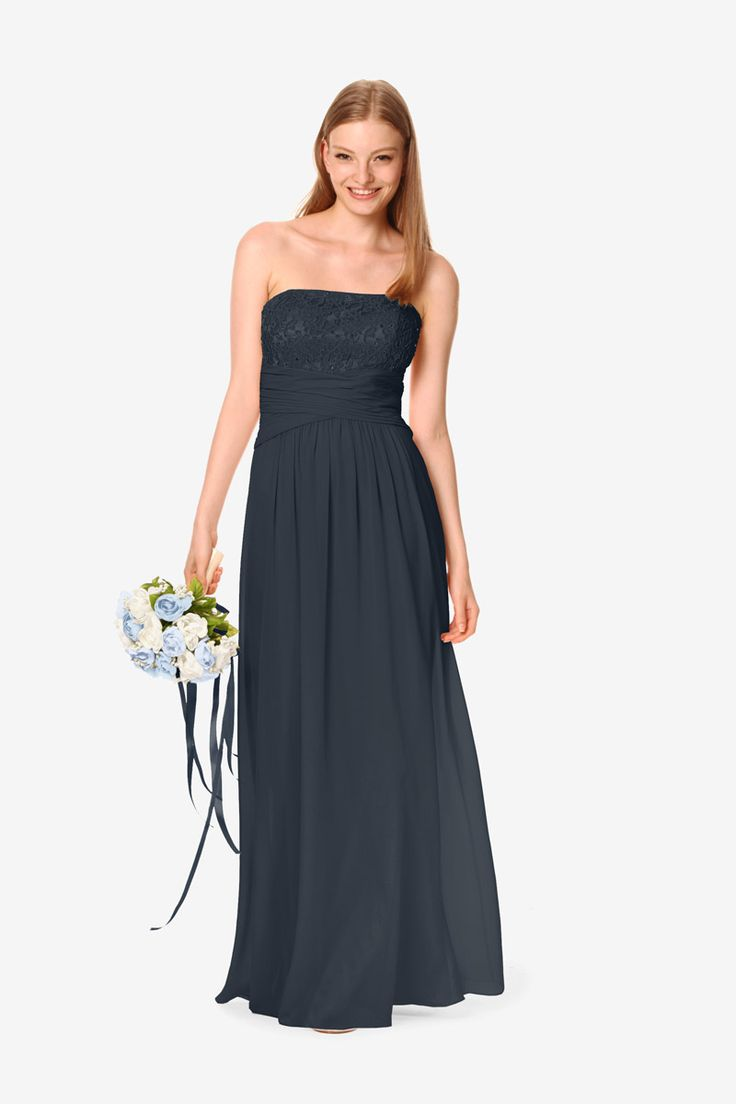 25 best david tutera for gather gown bridesmaids images on georgia bridesmaid gown by david tutera for gather gown navy blue bridesmaid gown ombrellifo Images