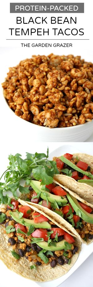 Protein-packed black bean tempeh tacos (vegan, gluten-free)                                                                                                                                                                                 More