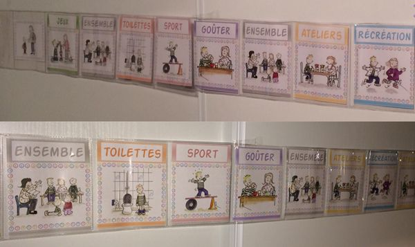 """Affichage maternelle """"La journée qui passe"""" http://www.iticus.fr/?p=572"""