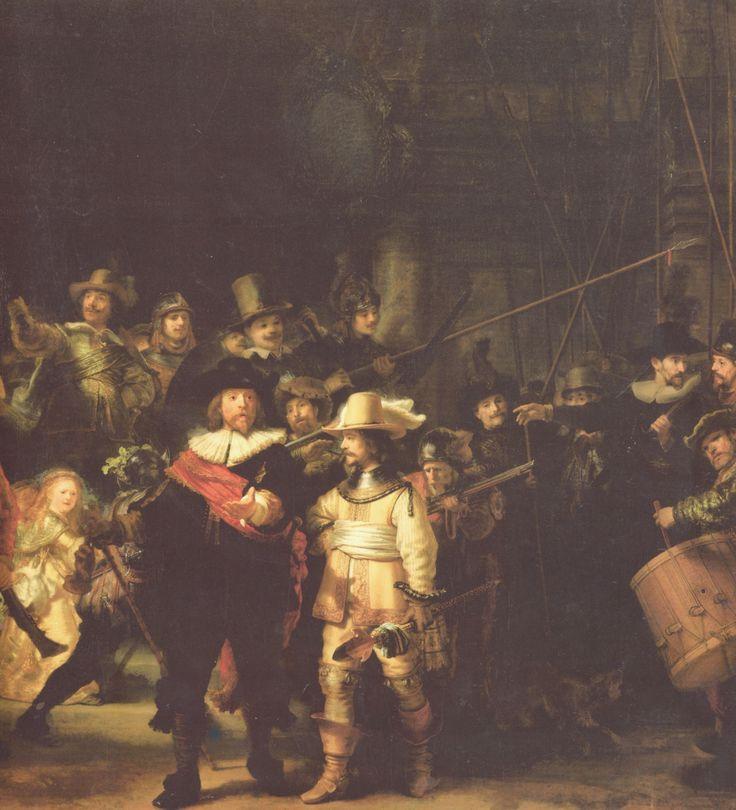 Rembrandt Harmensz. van Rijn: Die Nachtwache, Detail - Gemeinfrei