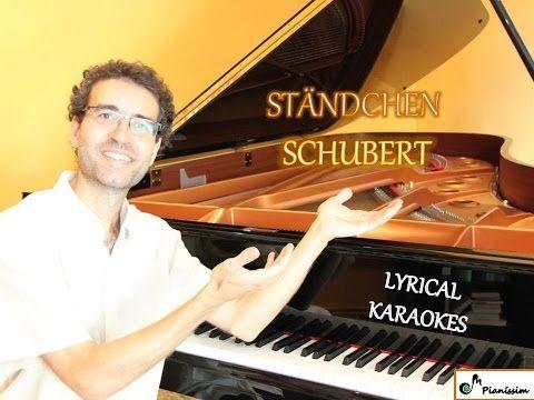 Ständchen - Schwanengesang - KARAOKE / PIANO ACCOMPANIMENT - High voices - Schubert - YouTube