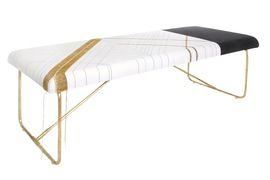 Embroider Bench - Traditional, Transitional Upholstery / Fabric Benche by Carlyle Collective