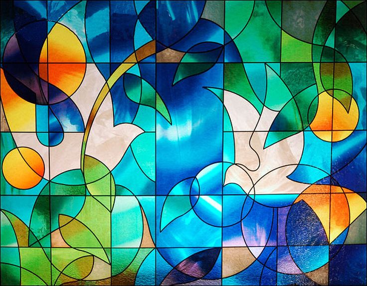 dove stained glass decorative window film - Decorative Window Film Stained Glass
