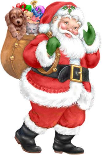 Santa - looks like greeting card art - dlb