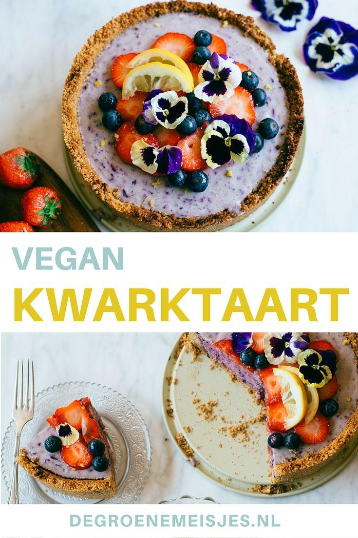 Is het geen plaatje? Maak ook deze vegan zoete en super frisse kwartkaart met fruit.