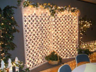 String Solar Lights through the lattice?
