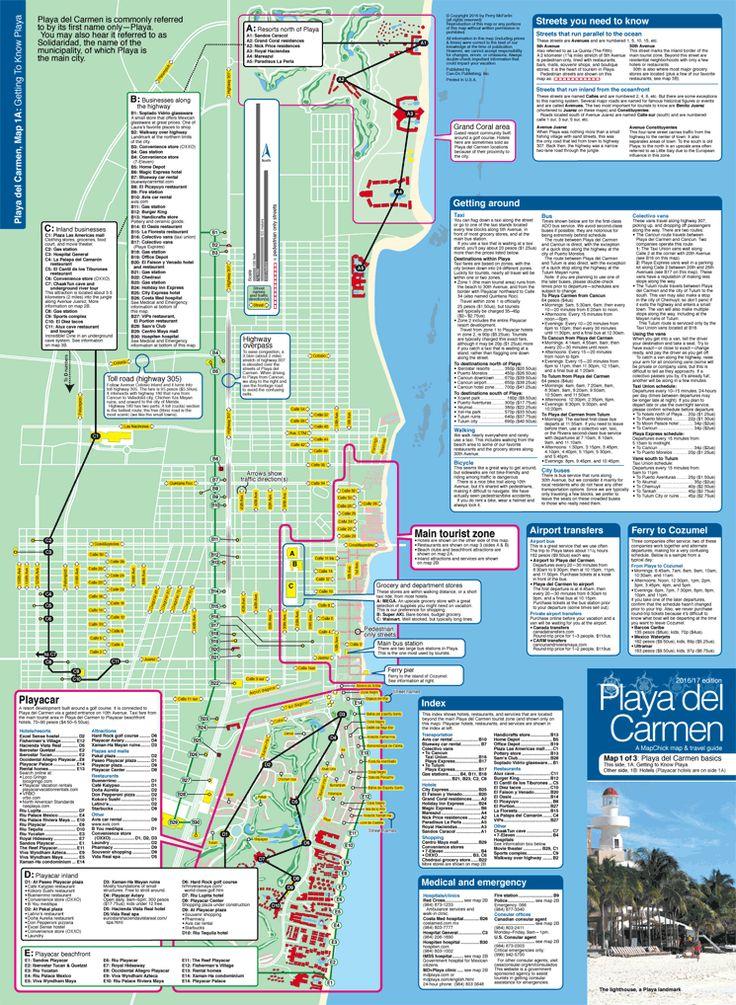 playa del carmen hotel map pdf