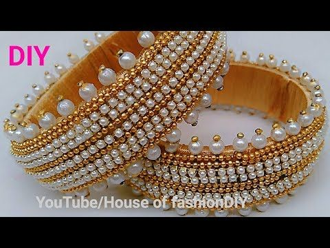 How To Make Designer Silk thread Bangles At Home With Easily Available Materials..! - YouTube