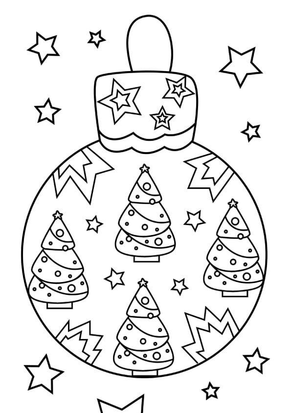 Coloriage boule de Noël sapin (avec images) | Coloriage boule de noel, Coloriage noel