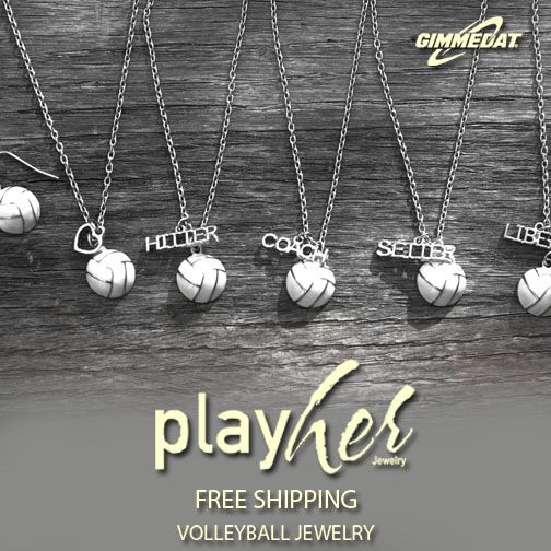 Customizable Volleyball Jewelry. Volleyball Gifts. Attack Your Passion.