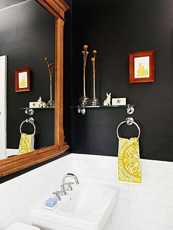 Statement Color. Save strong wall colors for statement rooms that are smaller and visited less -- a library, guest room, or a powder room. -- Lulu Dekwiatkowski, textile designer