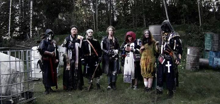 Most of the members of the Swedish Church, just after Blodsband Reloaded, 2014