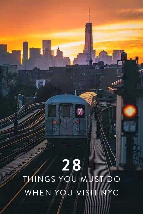 28 Things You Must Do When You Visit NYC. Your virtual tour guide to New York City. Every thing you want to see, eat and do when you come visit the Big Apple.