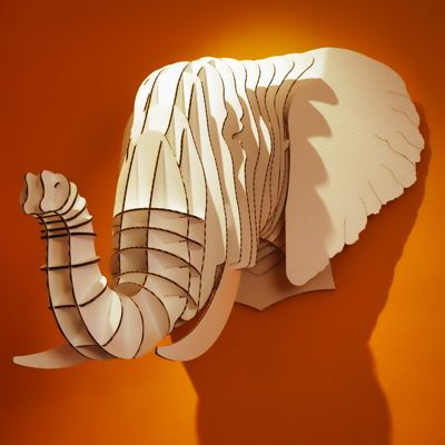 Cardboard Safari: Safari Animal, Cardboard Elephants, Cardboard Safari, Trophy Head, Gifts Ideas, Animal Head, Classroom Ideas, Bedrooms Wall, Kids Rooms