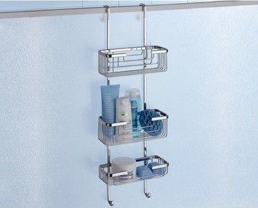Over-the-Door Triple Shower Basket contemporary shower caddies  #Luxury #Spa #Robe #Plush #pamper #bath #towels