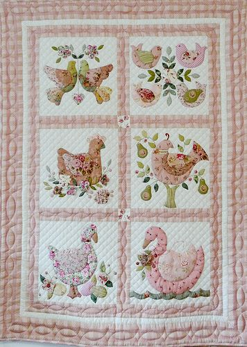 Birds Applique.  Can't find the source of this.  If anyone knows, let me know so I can cite it.