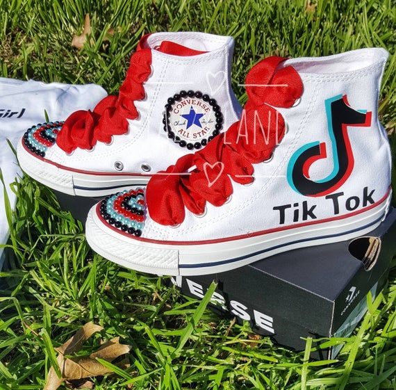 Tik Tok Shoes Etsy In 2021 Birthday Outfit Sneaker Storage Box Decorated Shoes