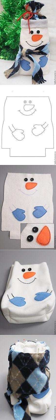 Class & quot Maestro; bolsa de muñeco de nieve de Navidad para el caramelo & quot;