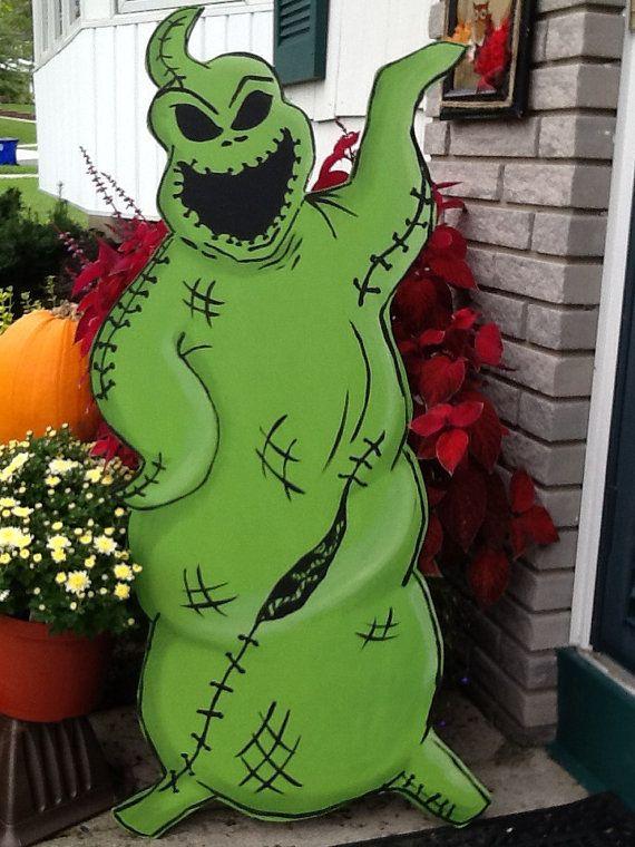 Hand Painted Oogie Boogie  Nightmare Before Christmas  Halloween Yard Art