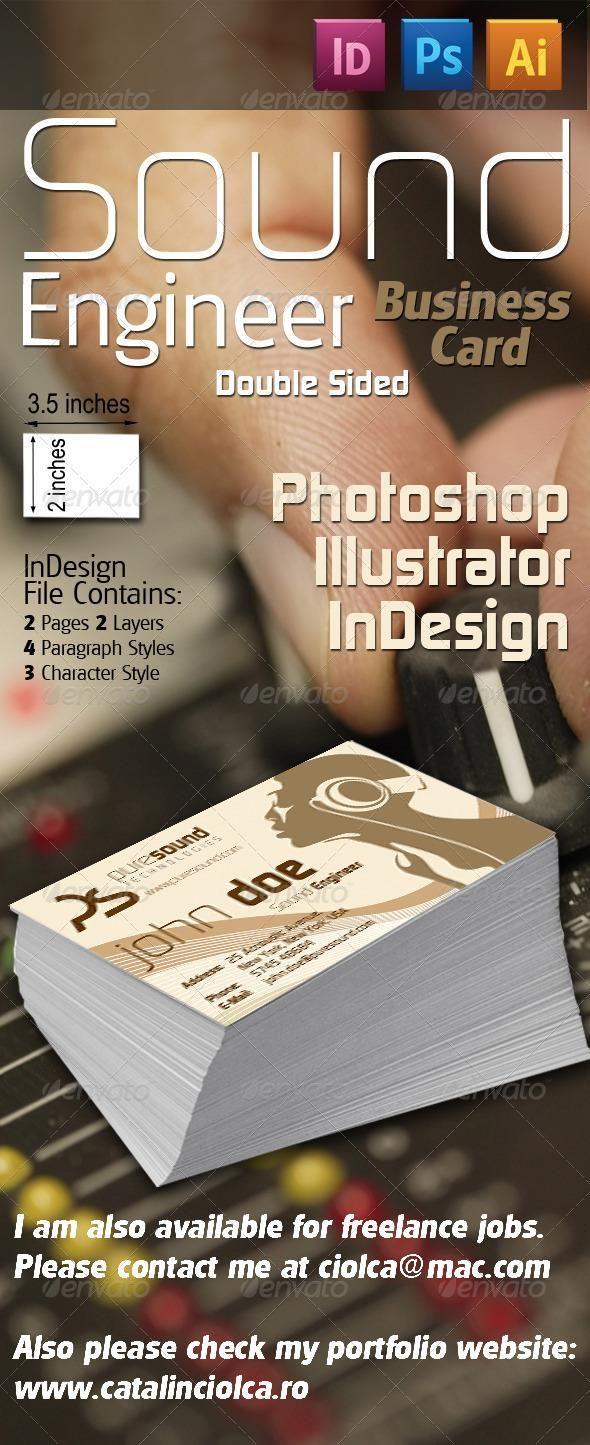 1661 best business card design images on pinterest cards file c sound engineer business card magicingreecefo Image collections
