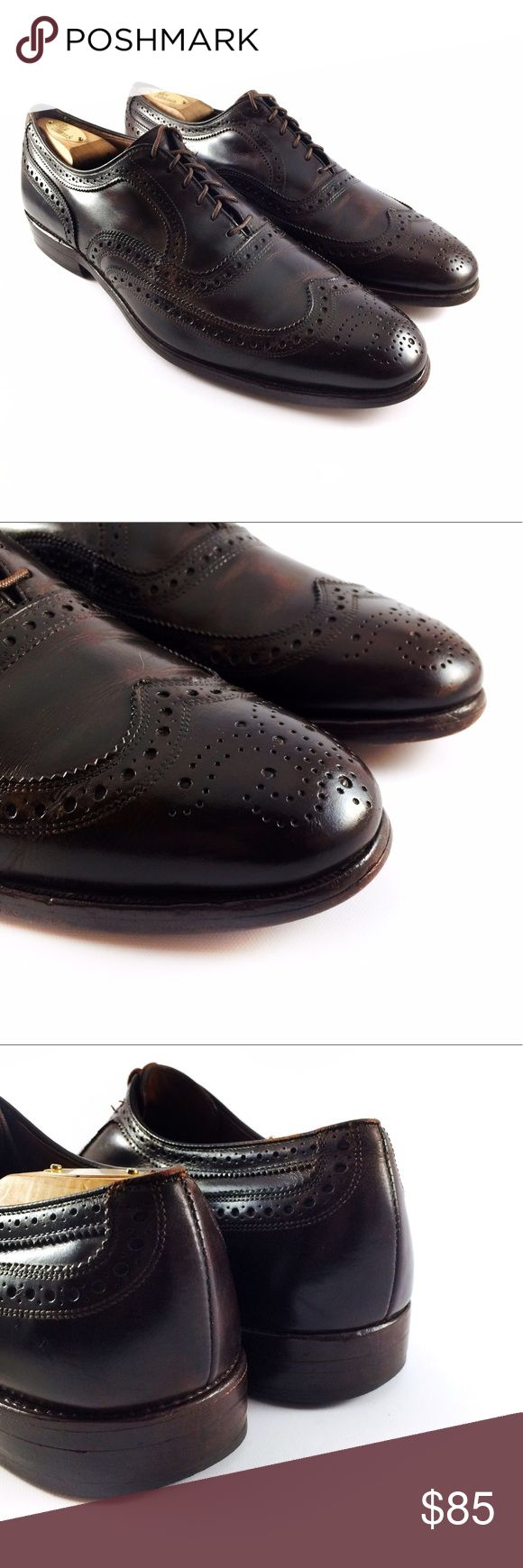 Allen Edmonds McAllister Dark Brown Wingtip Oxford Mens Allen Edmonds McAllister Dark Brown Perforated Wingtip Oxford Shoes. Size - 11 B. This item is in great condition and comes from a smoke free home. Allen Edmonds Shoes Oxfords & Derbys