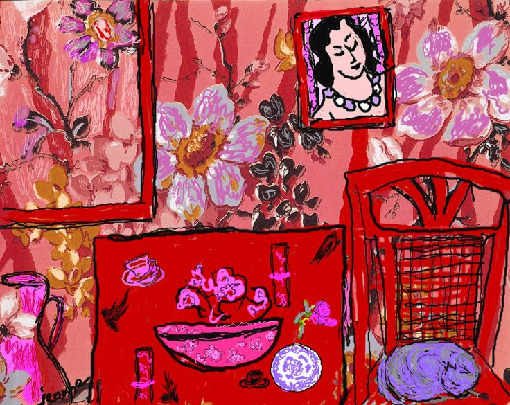 matisse | The Red Room. jeanne, after Matisse.