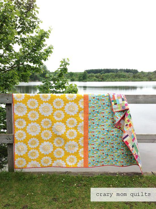 сумасшедшая мама Quilts: с scrapalicious одеяло