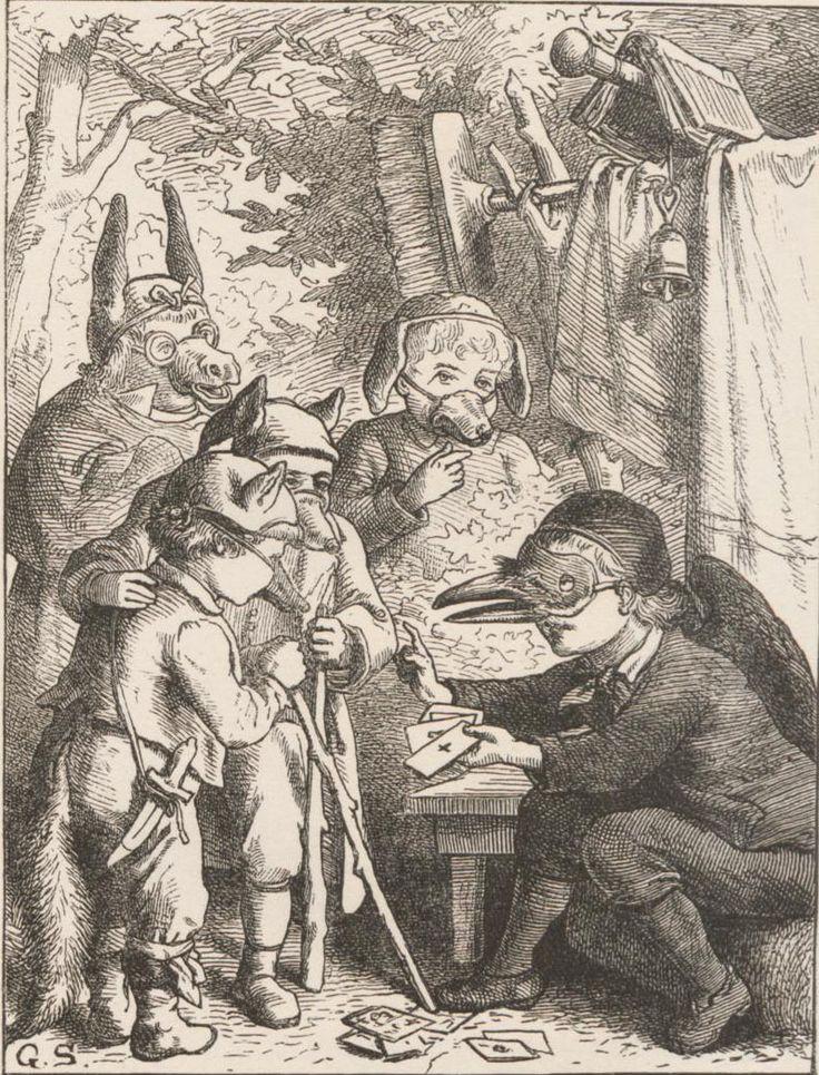 Anton Wilhelm Florentin von Zuccalmaglio, Kinder-Comödien : in Handlung gesetzte Thier-Märchen 2 (1870) Ills. by Gustav Süs
