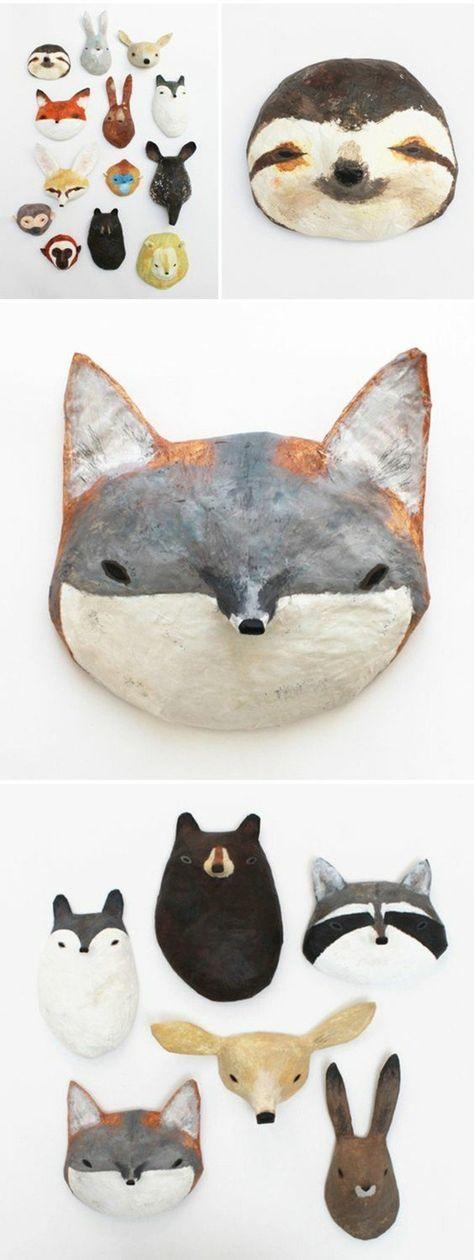 les 25 meilleures id es de la cat gorie masque animaux sur pinterest deguisement animaux. Black Bedroom Furniture Sets. Home Design Ideas