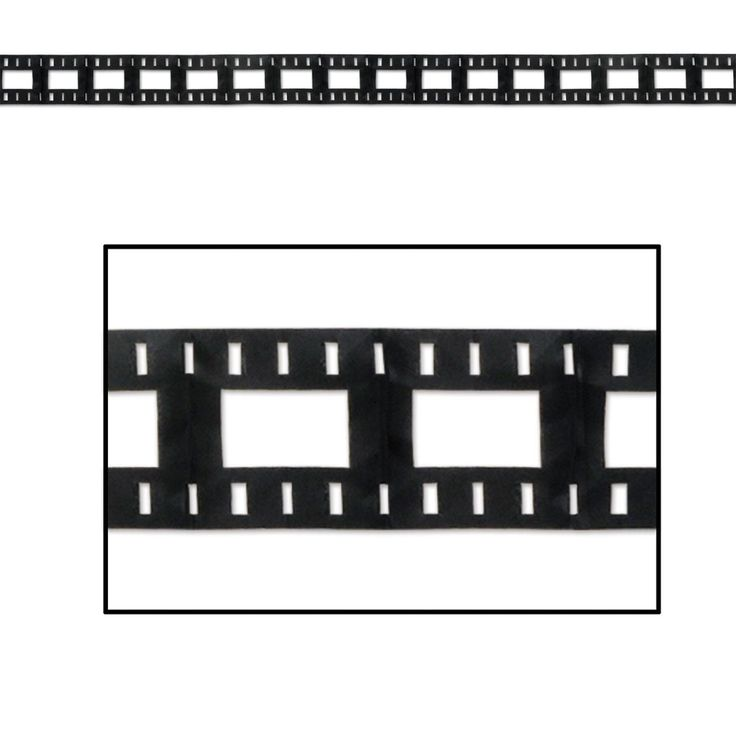 Club Pack of 12 Awards Night Themed Black Filmstrip Garland Party Decorations 12'