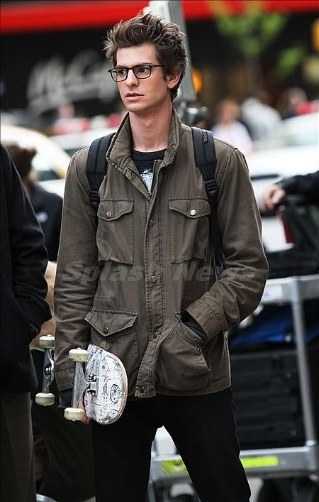 Andrew Garfield who is 1. Hot as all get out. And 2. In spiderman he is smart and sexy
