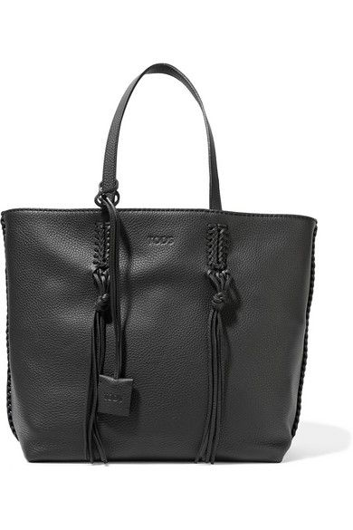 Black textured leather (Calf) Snap-fastening tab at open top Comes with dust bag Weighs approximately 5.5lbs/ 2.5kg Made in Italy