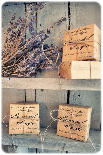 Homemade soap packaging