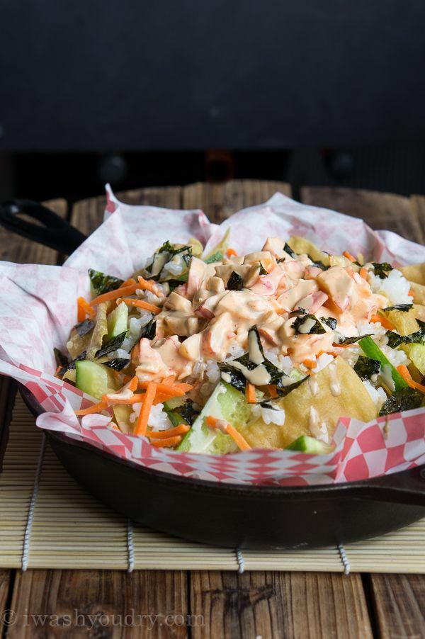 Spicy California Roll Sushi Nachos - I Wash You Dry