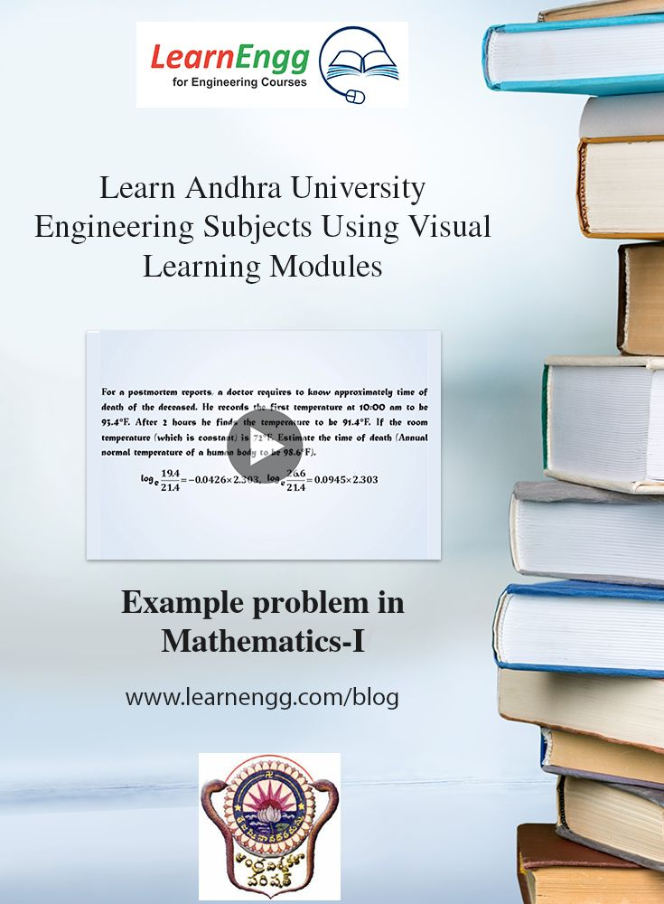 You can now visually and easily learn complex Engineering topics of Andhra University using LearnEngg visual modules. Here is a sample video of an 'Example problem in Mathematics-I' For more visual modules, visit our website: [Click on image] #learnengg #engineering #andhrauniversity