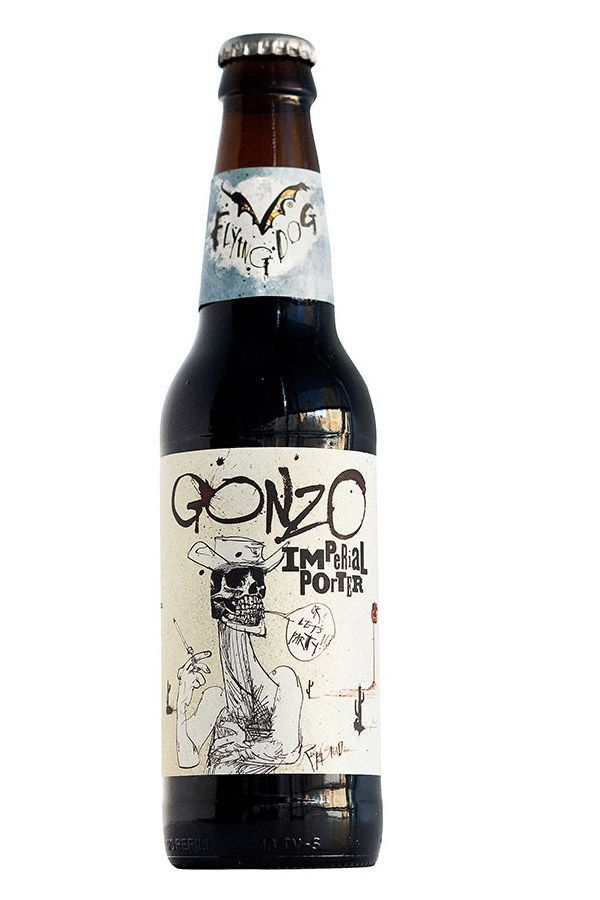 Flying Dog Brewery is one of our favorites simply for their crazy artwork on their beers. Each flavor is another fantastic drawing that you want to save and frame.  Gonzo Imperial Porter.
