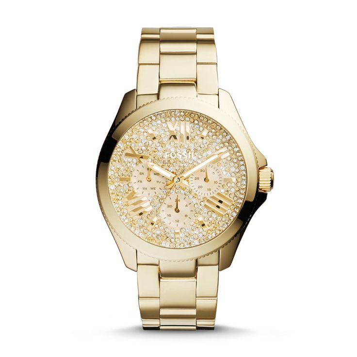 4a9ec2cab4b Fossil Cecile Multifunction Stainless Steel Watch - Gold-Tone · Relógios ...
